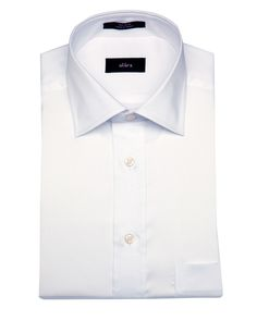 ALARA WHITE REGULAR FIT HERRINGBONE EGYPTIAN COTTON DRESS SHIRT'. #alara #cloth #dress shirts
