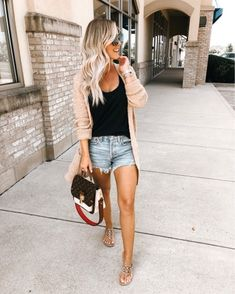 Winter Fashion Trends 2020 for Casual Outfits Summer Outfits Women, Casual Summer Outfits, Spring Outfits, Cute Outfits, Summer Vegas Outfit, Spring Summer Fashion, Autumn Fashion, Bon Look, Fall Transition Outfits