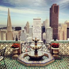 The View from The Fairmont San Francisco Hotel's Penthouse Suite