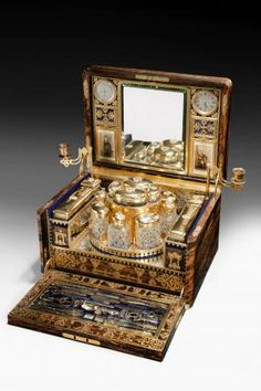 A truly outstanding and probably unique ladies dressing case by Betjemann's (Richard Gardner Antiques) at the Winter Fine Art & Antiques Fair, Olympia