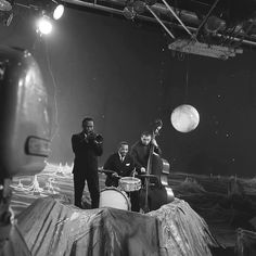Miles, Kenny Clarke and Pierre Michelot, french TV show