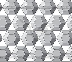 Simple geometric pattern - hexagonal diamonds - vector clip art