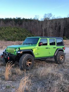 Jeep Wrangler JL 2018 up Parts Accessories Green Jeep Wrangler, 4 Door Jeep Wrangler, Wrangler Jl, Jeep Rubicon, Wrangler Unlimited, Jeep Quotes, Jeep Sayings, Lime Green Jeep, Suv 4x4