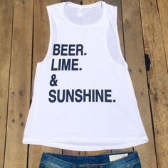 beer lime & sunshine muscle tank