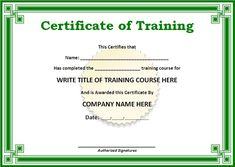 10+ Training Certificate Templates | Free Printable Word & PDF