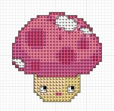 free mushroom Cross Stitch Pattern