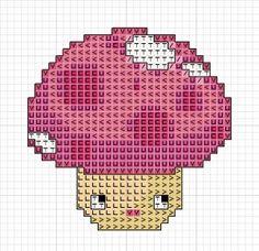 free mushroom Cross Stitch Pattern