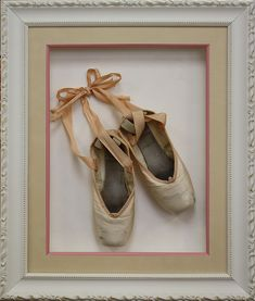 Custom framed ballet shoes! Custom frame design by Art and Frame Express in central NJ at our Edison location.