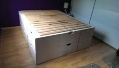 Malmus Maximus: hacking MALMs and LERBÄCK into storage bed - IKEA Hackers