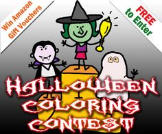 Coloring Contest Results - Coloring Pages 4 U Free Halloween Coloring Pages, Amazon Gifts, Gift Vouchers, Messages, Prints, Cards, How To Make