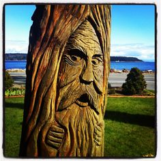 Campbell River BC..chainsaw carving!