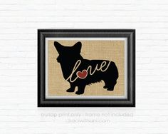 This inexpensive burlap print will make a treasured keepsake for any dog lover! This listing is for the BURLAP PRINT ONLY. I want to save