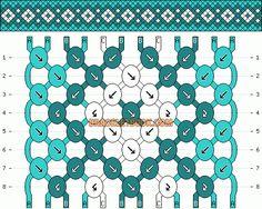 Normal Friendship Bracelet Pattern #3417 - BraceletBook.com