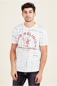 3369fabe6c BANDANA MENS CREW NECK TEE - True Religion