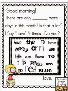 Meaningful Morning Messages (Aug/Sept) for K! Morning Message Kindergarten, Kindergarten Literacy, Morning Work, Morning Meetings, Morning Msg, Class Meetings, Morning Activities, Time Activities, Preschool Activities