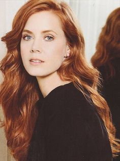 Without Bangs Long Copper Wavy Designed Human Hair Amy Adams Wigs Make Up Braut, Corte Y Color, Beautiful Redhead, Beautiful Women, Ginger Hair, Auburn, Hair Goals, New Hair, Redheads