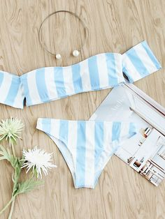 Shop Block Striped Off The Shoulder Bikini Set online. SheIn offers Block Striped Off The Shoulder Bikini Set & more to fit your fashionable needs.