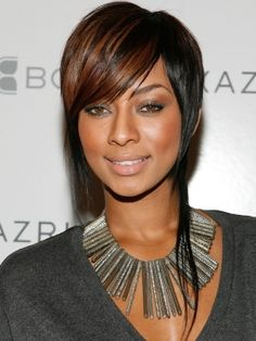 If I ever grow my hair out:   Keri Hilson Short Razor-Cut Hairstyle