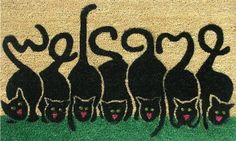 """Cats Welcome 17""""x29"""" Coir with Vinyl Backing by Momentum Mats. $19.99. Makes a Great Gift - Free Gift Enclosure. 100% Natural Coir with Vinyl Backing for Long-Lasting Wear and Durability. Fade Resistant, Color Fast and Weather Tolerant. Traps Dirt and Moisture. In Stock - Ships in 1-2 days. Momentum Mats has been a trusted manufacturer for 28 years and we take great pride in the fact that we use only 100% natural coir and vinyl in our doormats.  Our manufacturing facilitie..."""