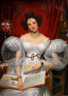 Portrait de la Marquise Chasseloup-Laubat, Joseph-Désiré Court, 1831