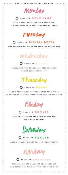 DESIGNLOVEFEST | Free Positive Tasks Printable