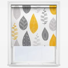 Universal Leaf Yellow Blackout roller from Blinds Direct, defined by quality. Enhance your windows with this Leaf Yellow Blackout Roller Blind. Yellow Roller Blinds, Sheer Roller Blinds, House Blinds, Blinds For Windows, Window Blinds, Matchstick Blinds, Bamboo Blinds, Yellow Kitchen Blinds, Yellow