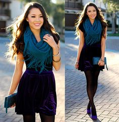 Purple Velvet if You Please + Giveaway (by Jessica R.) http://lookbook.nu/look/4475685-Purple-Velvet-if-You-Please-Giveaway