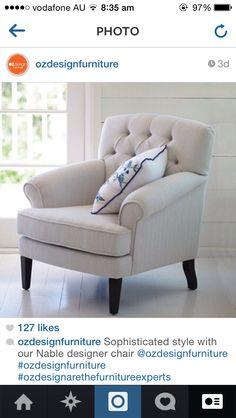 Nable Designer Chair Oz Design Furniture, Chair Design, Cool Furniture, Soft Chair, Big Chair, Patterned Chair, Queenslander, Sophisticated Style, Designer Chair