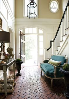 ARTICLE: When Designing On Trend Is NOT Appropriate... | Image Source: The Handmade Home | CLICK TO READ... http://carlaaston.com/designed/trendy-design-is-not-always-appropriate | (KWs: stairway, stairs, trend, design, iron railing, wood railing)