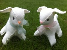 Sweet Little Lamb Baby with Rattle or Music by Sillysockmonkeys, $17.00