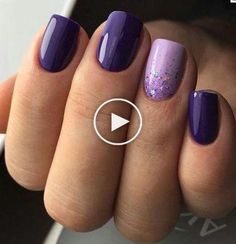 Excellent light and dark purple nail polish - NailiDeas . - Excellent light and dark purple nail polish – NailiDeasTrends – Excellent ligh - Purple Nail Designs, Nail Art Designs, Nail Polish Designs, Purple Nails With Design, Nails Design, Dark Purple Nail Polish, Light Purple Nails, Purple Shellac Nails, Purple Wedding Nails