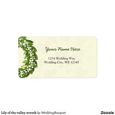 Lily of the valley wreath label
