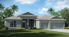 Sereno The Sawgrass sq. 3 Car Garage, Garage Doors, Riverview Florida, Two Story Homes, Big Family, Lanai, Square Feet, Great Places, Shed