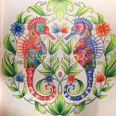 New blogpost! Link in bio... #lostocean @johanna_basford #coloringbook #coloring #adultcoloring #seahorses #meditative #hobby #creative #artsyfartsy