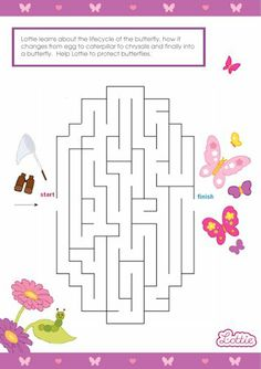 Butterfly Protector Lottie doll maze game for kids #free #printables Download at www.lottie.com/create/