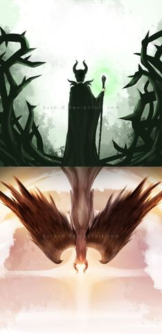 This movie was a wonderful example of how even those in the depths of despair and fury do not always stay that way. They are not doomed to fate as many believe. Incredible artwork Maleficent by Kuro-D on deviantART Disney Fan Art, Disney Love, Disney Magic, Disney And Dreamworks, Disney Pixar, Princesas Disney Zombie, The Villain, Disney Villains, Disney Animation