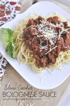 Slow Cooker Bolognese Sauce ~