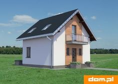 DOM.PL™ - Projekt domu AN KRASNAL CE - DOM AO10-85 - gotowy koszt budowy Attic House, House In The Woods, Shed, Outdoor Structures, Arquitetura, Tiny Houses, Attic Rooms, Barns, Sheds