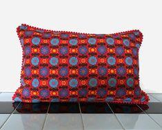 Nordic Print Scandi Style Boudoir throw pillow Retro 1960s