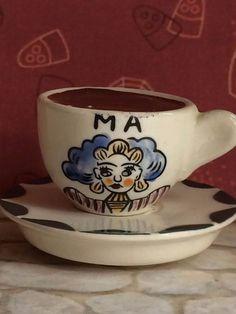 "Vintage 1950's ""Ma"" Tea Cup & Saucer Salt and Pepper Shaker"