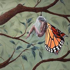 Metamorphosis Art, Butterfly Metamorphosis, Butterfly Transformation, Transformation Images, Butterfly Images, Surrealism Painting, Arte Sketchbook, Surreal Art, Art Inspo