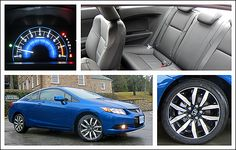 2013 Honda Civic Coupe EX-L Navi Review | Auto123.com - The 2012 Civic was lambasted by the automotive press for its cheap, plastic-y interior and surprising lack of innovation. Honda responded to the stinging criticism with an overhaul that addressed those complaints. #honda #civic #car #review