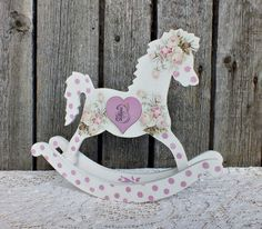 Wooden rocking horse rocking horse toy nursery decor wooden figures custom baby gift rocking horse toy personalized baby girl gifts custom baby shower gift baby monogrammed gifts custom nursery decor girl negle Gallery