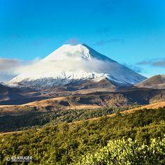 Mount Ngauruhoe - Ruapehu District, Manawatu Wanganui, New Zealand.  Photo: Ed Kruger.
