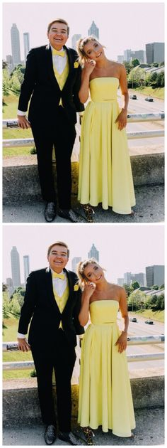 yellow two piece prom dress Bridesmaid Dresses, Prom Dresses, Wedding Dresses, Yellow Two Piece, Chromatic Aberration, We Can Do It, Wedding Veil, How Are You Feeling, Plus Size
