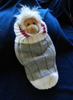 Ravelry: Work Sock Baby (Monkey) Snuggler pattern by Shelley Hilton
