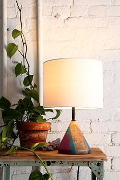 Magical Thinking Painted Cone Lamp