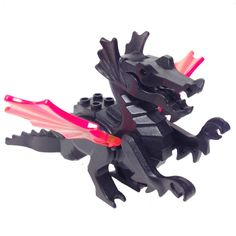 """MinifigurePacks: Lego Castle - Fright Knights """"CLASSIC DRAGON - Complete Assembly with Trans-Neon Orange Wings"""" Dragon Knight, Dragon Rider, Dino Island, Lego Dragon, Lego Age, Lego Knights, Lego Animals, Lego Craft, Lego Minifigs"""
