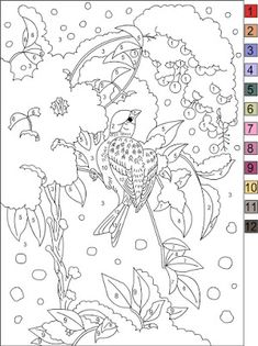 Nicole's Free Coloring Pages: Color by number Color By Number Printable, Japanese Stamp, Free Coloring Pages, Doodle Art, Colouring, Kids, Inspiration, Colors, Young Children