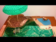 Made with kids - natural wooden house Cardboard Paper, Wooden House, Jouer, Diy Toys, Little People, Driftwood, Natural, Crochet, Youtube